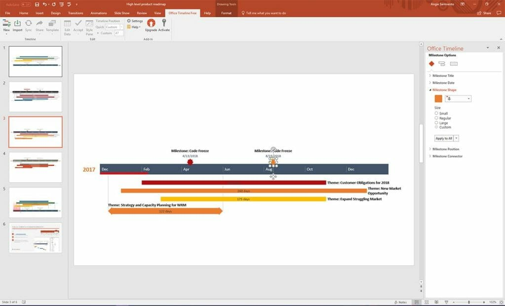 Quickly Turn a Schedule into a Visual Timeline for Effective Communication and Presentations within PowerPoint.
