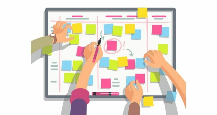 Kanban board software offers many advantages over whiteboards and sticky notes.