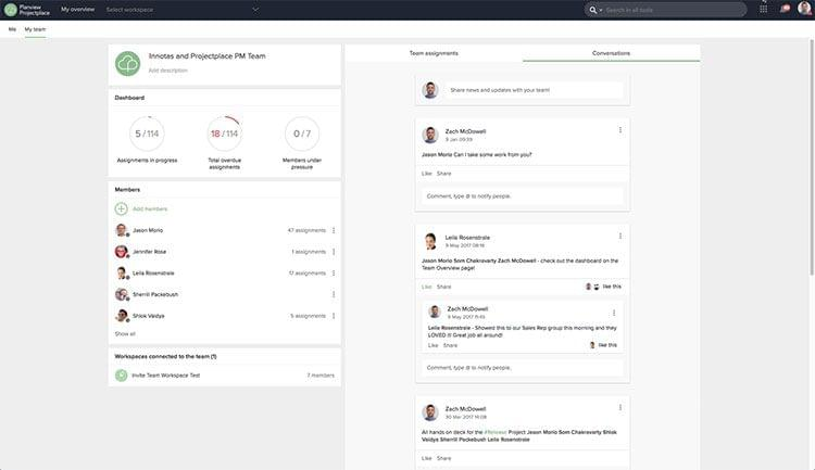 Project collaboration tools offer easy communication with team members.