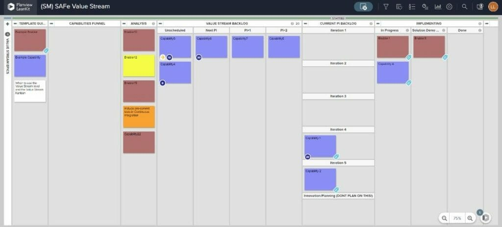 Kanban boards are a useful tool for a variety of Lean manufacturing exercises, including value stream mapping.