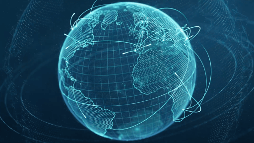 Wireframe earth