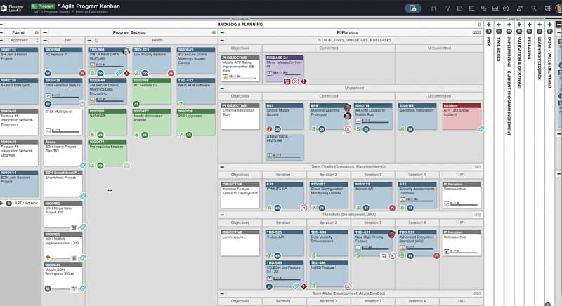 Developing and managing a backlog is a key element of many Agile Frameworks. Kanban boards are often used to support this practice.